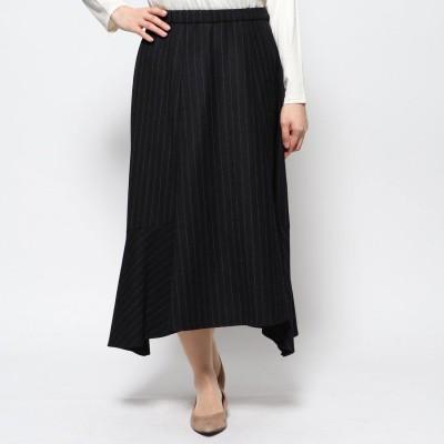 リネーム Rename ストライプヘムスカート (ブラック)