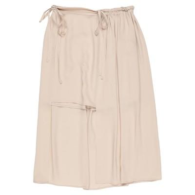 マウロ グリフォーニ MAURO GRIFONI 7分丈スカート ベージュ 38 アセテート 69% / シルク 31% 7分丈スカート