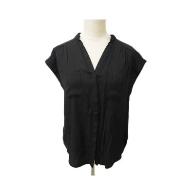 【中古】ローズバッド ROSE BUD カットソー シャツ スキッパーカラー 半袖 F 黒 ブラック レディース 【ベクトル 古着】