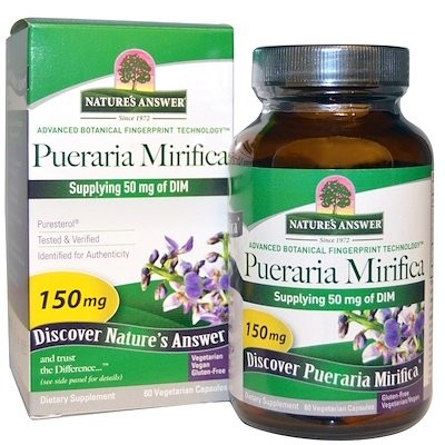 Pueraria Mirifica、150 mg、ベジカプセル60錠