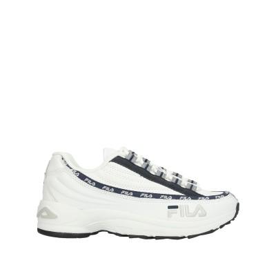 FILA スニーカー&テニスシューズ(ローカット) ホワイト 37 革 / 紡績繊維 スニーカー&テニスシューズ(ローカット)