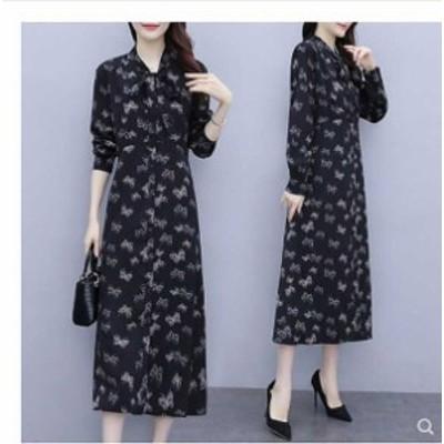 予約商品 大きいサイズ レディース  春夏新作 韓国 ファッション ワンピース L-5XL  ゆったり 体型カバー オーバーサイズ 大人ドレス 210
