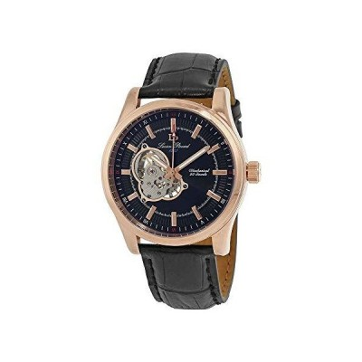 Lucien Piccard Men 's lp-40006?m-rg-01?Morganaローズゴールド調hand-wind Watch with Blackレザーバンド【並行輸入品】