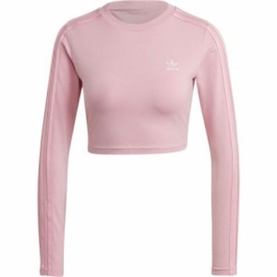 アディダス adidas Originals レディース ベアトップ・チューブトップ・クロップド トップス Cropped Long Sleeve Light Pink