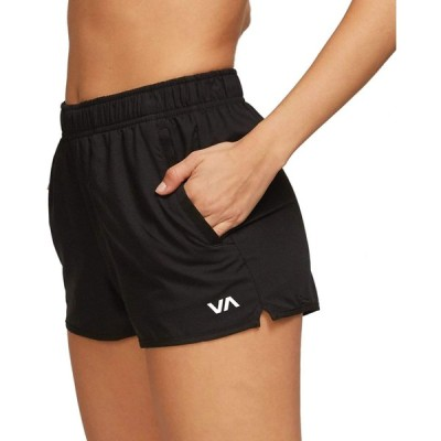 RVCA レディース ヨガ ストレッチ アスレチックショーツ US サイズ: X-Small カラー: ブラック 並行輸入品