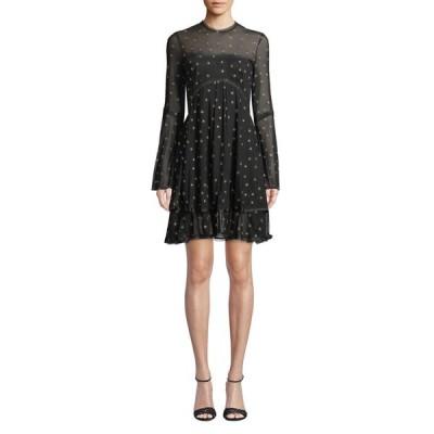 ドナミザニ レディース ワンピース トップス Saint Sheer Long-Sleeve Star Mini Dress