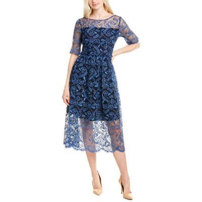 ショシャーナ ワンピース トップス レディース Shoshanna Lace Sheath Dress cosmic blue