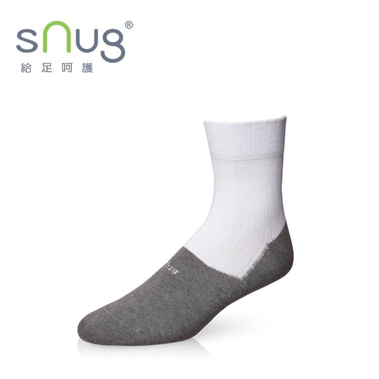 【sNug-直營 消臭頂級學生襪】 襪筒白色 /襪底灰色 /符合學校規定必備白襪 /多段尺寸 /襪口不鬆脫 /男生女生都合適