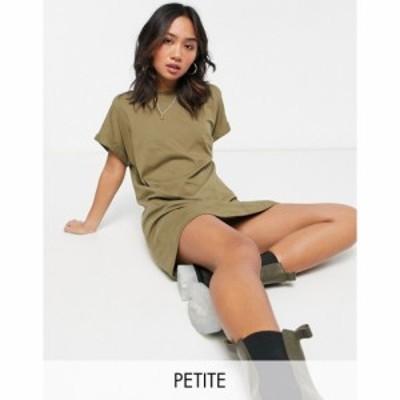 ブレイブソウル Brave Soul Petite レディース ワンピース Tシャツワンピース ワンピース・ドレス Xena T-Shirt Dress In Olive ミリタリ