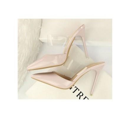 ミュール レディース 美足サンダル ハイヒール 婦人靴 ファッション シンプル 上品 インテッド ポイント消化
