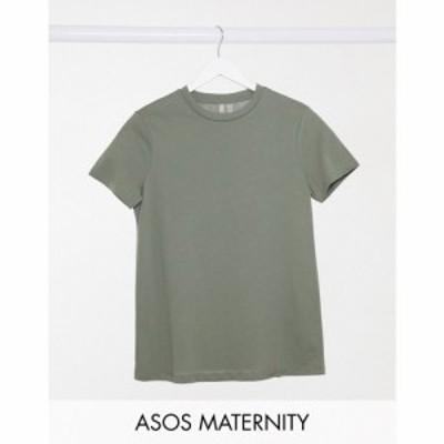 エイソス ASOS Maternity レディース Tシャツ マタニティウェア トップス Asos Design Maternity Ultimate Organic Cotton T-Shirt With