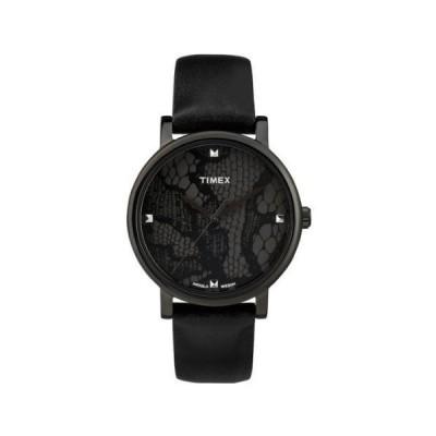 TIMEX タイメックス ユニセックス レザーベルト腕時計 T2P461