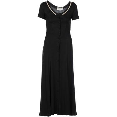 ROBERTA PUCCINI by BARONI ロングワンピース&ドレス ブラック 42 85% レーヨン 15% 麻 ロングワンピース&ドレス