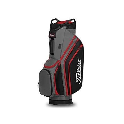 Titleist Cart 14 Lightweight Golf Bag, Charcoal/Black/Red
