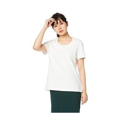 [セシール] シャツ オフィスウエアー 透けにくいクルーネックプルオーバー 半袖 洗濯機OK NB-5405 レディース オフホワイト 日本