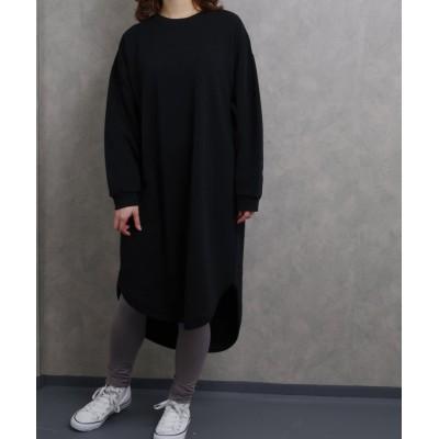 【フィズ】 裏シャギー裾ラウンドワンピース myke SS レディース ブラック M Fizz