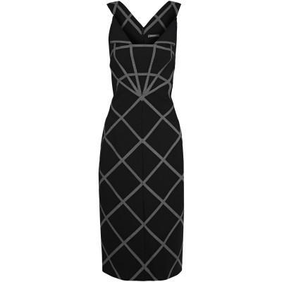 ZAC POSEN 7分丈ワンピース・ドレス ブラック 10 ポリエステル 68% / レーヨン 28% / ポリウレタン 4% 7分丈ワンピース・