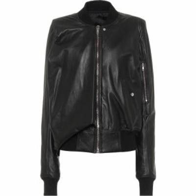 リック オウエンス Rick Owens レディース レザージャケット ミリタリージャケット アウター Seb Leather Bomber Jacket Black