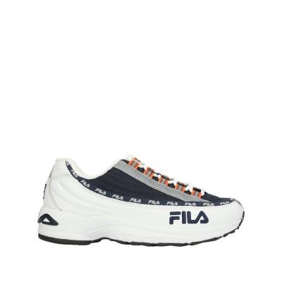 FILA スニーカー&テニスシューズ(ローカット) ダークブルー 37 紡績繊維 / 革 スニーカー&テニスシューズ(ローカット)