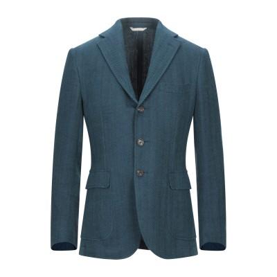 DOPPIAA テーラードジャケット ディープジェード 48 リネン 85% / コットン 15% テーラードジャケット