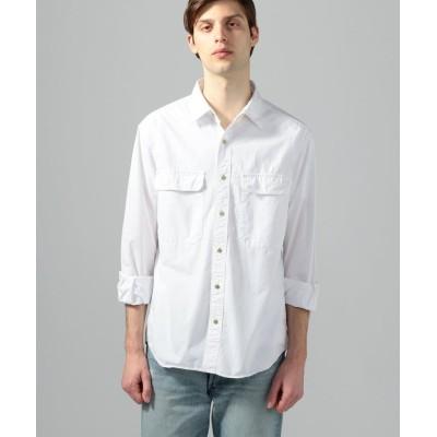 【トゥモローランド】 コットンポプリン ワークシャツ メンズ 11ホワイト XS TOMORROWLAND