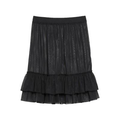 パトリツィア ペペ PATRIZIA PEPE ひざ丈スカート ブラック 1 ナイロン 100% ひざ丈スカート