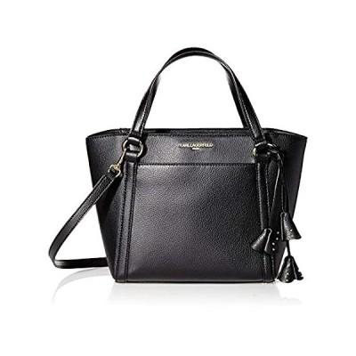 Karl Lagerfeld Paris IRIS Satchel Handbag, Black/Gold