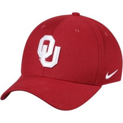 ナイキ メンズ 帽子 アクセサリー Oklahoma Sooners Nike Classic Logo 99 Swoosh Performance Flex Hat Crimson