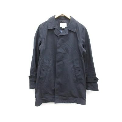 【中古】ナナミカ nanamica コート ステンカラー ゴアテックス GORE-TEX コットン S 紺 ネイビー SUBF100 /YT ●D メンズ 【ベクトル 古着】