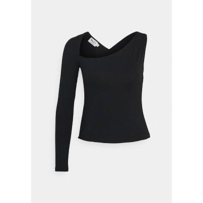 エヌ エー ケイ ディ カットソー レディース トップス CROSS BACK - Long sleeved top - black