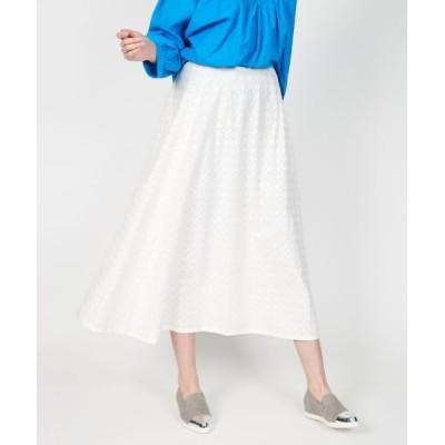 NIMES/ニーム Embroideryフレアスカート オフ 0