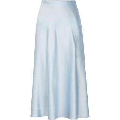 サムソエ&サムソエ Samsoe Samsoe レディース ひざ丈スカート スカート alsop pale blue satin midi skirt Blue