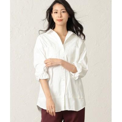 【キャスト コロン】 ガーメントダイオーバーシャツ レディース ホワイト M CAST: