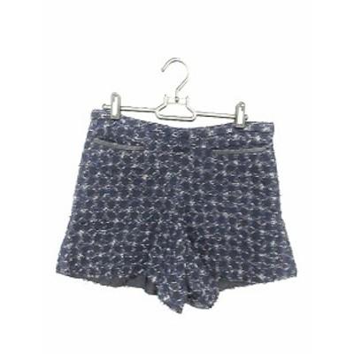 【中古】ドゥロワー Drawer パンツ キュロット ショート 40 紺 ネイビー /AAM レディース