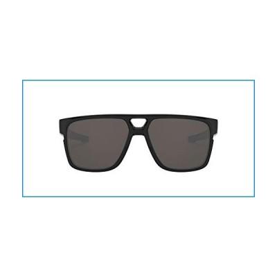 Oakley Men's Crossrange Patch 0OO9382 Rectangular Sunglasses, POLISHED BLACK, 60 mm【並行輸入品】