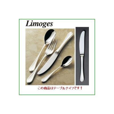 リモージュ 18-8 (銀メッキ付) EBM テーブルナイフ (ノコ刃付) (H・H) /業務用/新品