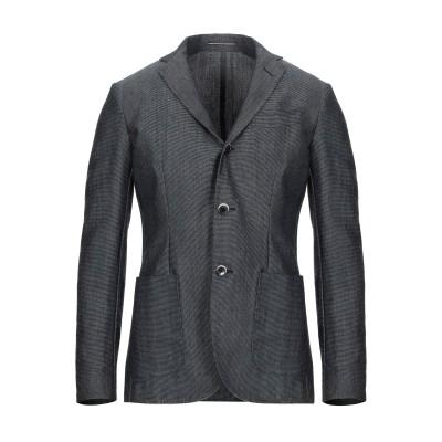 ローダ RODA テーラードジャケット スチールグレー 44 コットン 57% / リネン 31% / シルク 12% テーラードジャケット