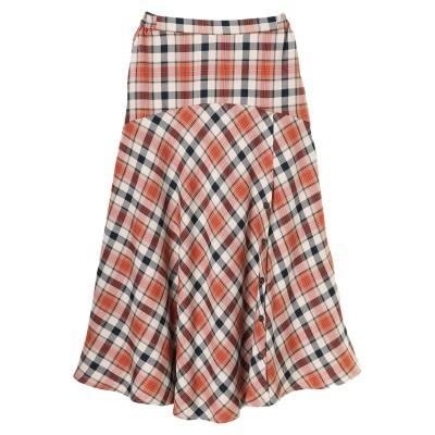 サイドボタンフレアラインロングスカート