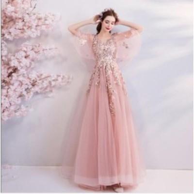 セール 結婚式 花嫁 パーティードレス プリンセスライン 素敵 ウエディングドレス ブライダル ワンピース 冠婚 ロング丈 綺麗 二次会ドレ