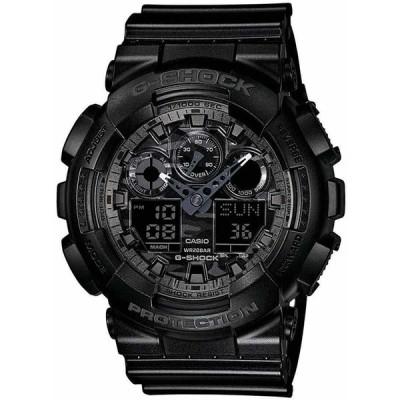 カシオ 腕時計 Casio G-SHOCK GA100CF-1A Camouflage Dial Black Analog-Digital 200m メンズ Watch