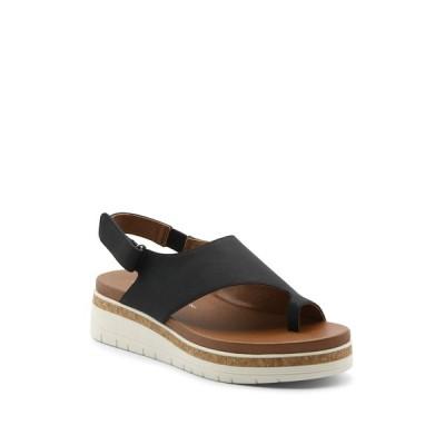 アドリアンヌヴィッタディーニ レディース サンダル シューズ Patsi Thong Toe Sandal BLACK-BK