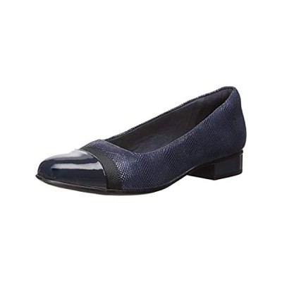 Clarks Women's Juliet Monte Loafer, Navy Suede Print/Synthetic, 10 M US