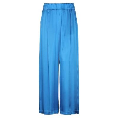 セミクチュール SEMICOUTURE パンツ ブライトブルー 42 アセテート 75% / シルク 25% パンツ