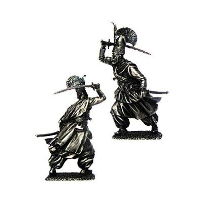 Military-historical miniatures Janissary Officer XVIII Century Ottoman Empire Tin Metal 54mm Action Figures Toy Soldiers Size 1/32 Scale for