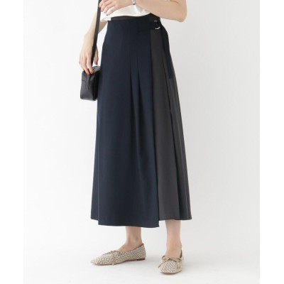 aquagirl(アクアガール) タフタコンビプリーツラップスカート