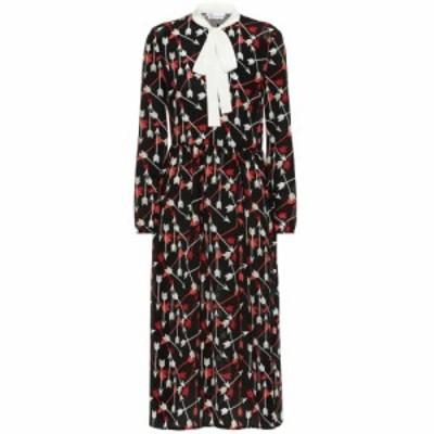 レッド ヴァレンティノ REDValentino レディース ワンピース ワンピース・ドレス Printed silk midi dress nero/latte