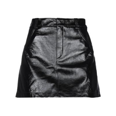クロエ CHLOÉ ミニスカート ブラック 40 羊革(ラムスキン) 100% ミニスカート