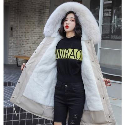 アウター レディース 中綿ジャケット 裏起毛 フェイクファー付き フード付き 防寒 暖かい冬 レディース アウター ファー付き かわ大 かわ小
