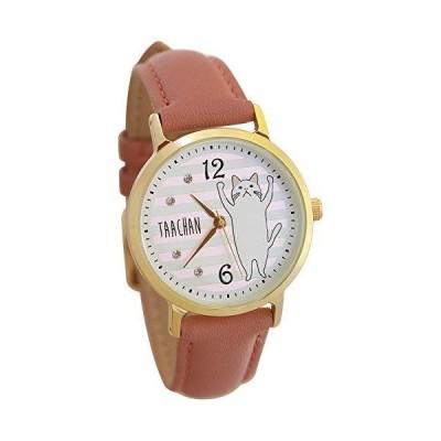 [キャットベリー] catberry ターチャン(ボーダー)腕時計 (ピンク)