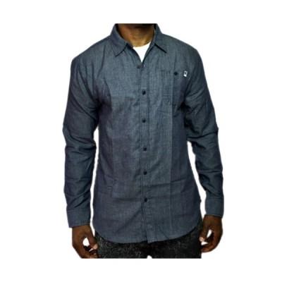 DC ボタンシャツ グレー 灰 長袖 メンズ●LBS−106 一万円以上送料無料